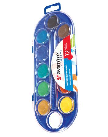 Купить Avantre Creative Акварельные краски с кисточкой, 12 цветов