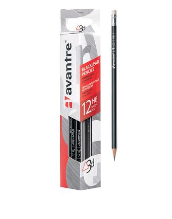 Купить Avantre Чернографитовые карандаши с ластиком