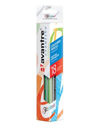 Купить Avantre Creative Цветные трехгранные карандаши, 18 цветов